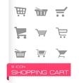 Shopping cart icons set vector