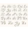 Calligraphic abc vector