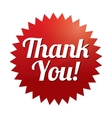 Thank you tag  red sticker icon for web vector