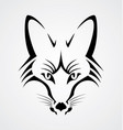 Fox head tribal vector