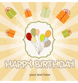 Birthday card with balloon vector