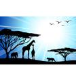 Safari silhouettes vector