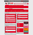 Web design elements set red vector