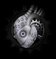 Steam punk mechanical heart vector