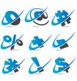 Swoosh symbol icons vector