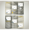 Photography brochure design template photo camera vector