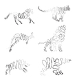 Set of animals made from ribbon vector