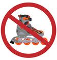 No rollerblades sign vector