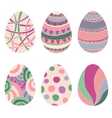 Doodle decorative eggs for easter vector