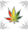 Marijuana leaf background vector