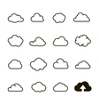 Cloud shapes collection cloud icons for cloud vector