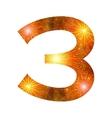 Number of orange firework three vector
