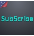 Subscribe icon symbol 3d style trendy modern vector