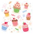 Lovely cakes vector