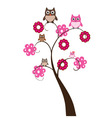 Owl family tree vector