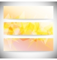 Set of horizontal banners light orange polygonal vector
