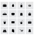 Black bag icons set vector