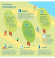 Running park infographic vector