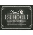 Back to school black chalk board background vector