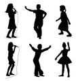 Kids singing dancing vector