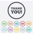 Thank you sign icon gratitude symbol vector