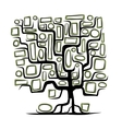 Family tree concept with empty frames vector