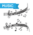 Music - staff and notes vector