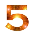 Number of orange firework five vector