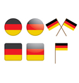 Badges with german flag vector