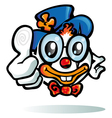 Clown cartoon on white background vector