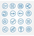 Game ui buttons - set of doodle hand drawn vector