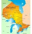 Ontario province map vector