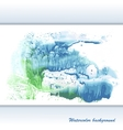 Watercolor modern abstract background vector