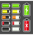 Battery level indicator kit vector