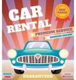 Car rental retro poster vector
