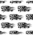 Checkered black and white flag vector