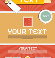 Leaflet layout - retro poster template vector