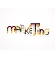 Marketing word font concept vector
