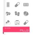 Pills icons set vector