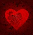 Grungy heart vector