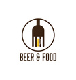 Food and beer design template vector