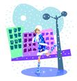Russian snow girl vector