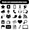 Media and communication icons vector