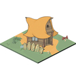 A video game object an old house vector