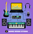 Home music studio vector