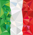 Stylized flag of italy low poly style vector