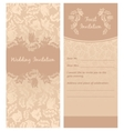 Wedding invitation flowers ornament background vector