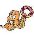Smiling octopus vector