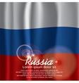 Russia flag curtain vector