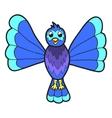 Cute fantasy bluebird vector